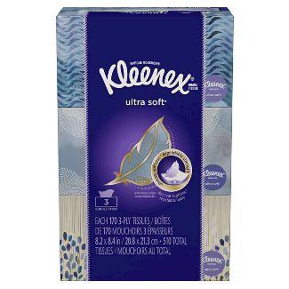 Kleenex Ultra Soft Facial Tissue - 3pk/170ct