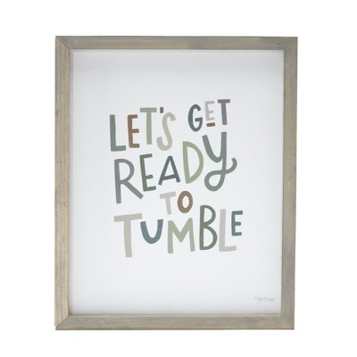 Lakeside Lets Get Ready to Tumble - Decorative Novelty Laundry Room Sign