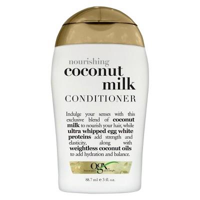 OGX Nourishing Coconut Milk Conditioner -Travel Size - 3 fl oz