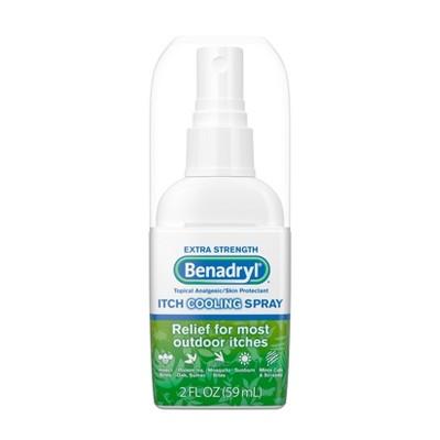 Benadryl Extra Strength Anti-Itch Cooling Spray - Travel Size - 2 fl oz