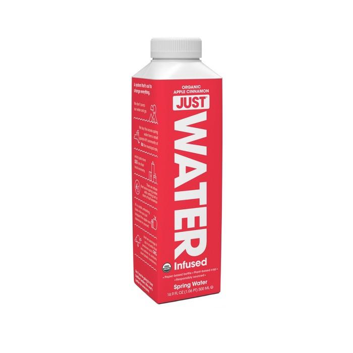 JUST 100% Organic Apple Cinnamon Infused Water - 16.9 fl oz Bottle - image 1 of 1