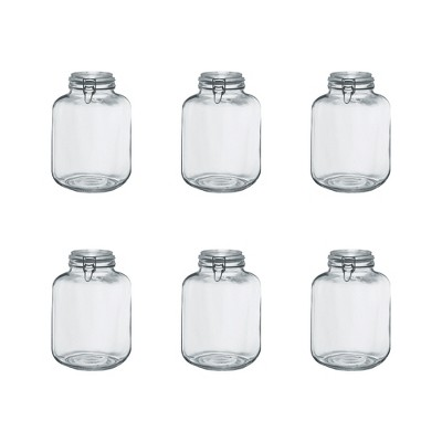 Amici Home Italian Hermetic Glass Canisters, 145oz, Set of 6