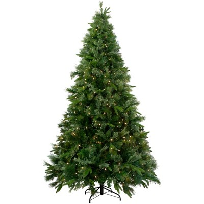 Northlight 9.5' Pre-Lit Artificial Christmas Tree Ashcroft Cashmere Pine - Warm White LED Lights