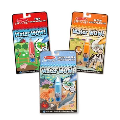 Melissa & Doug Water Wow! - Water Reveal Pad Bundle - Farm, Safari & Under The Sea - image 1 of 4