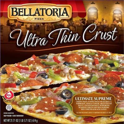 Bellatoria Ultra Thin Crust Ultimate Supreme Frozen Pizza - 21.7oz