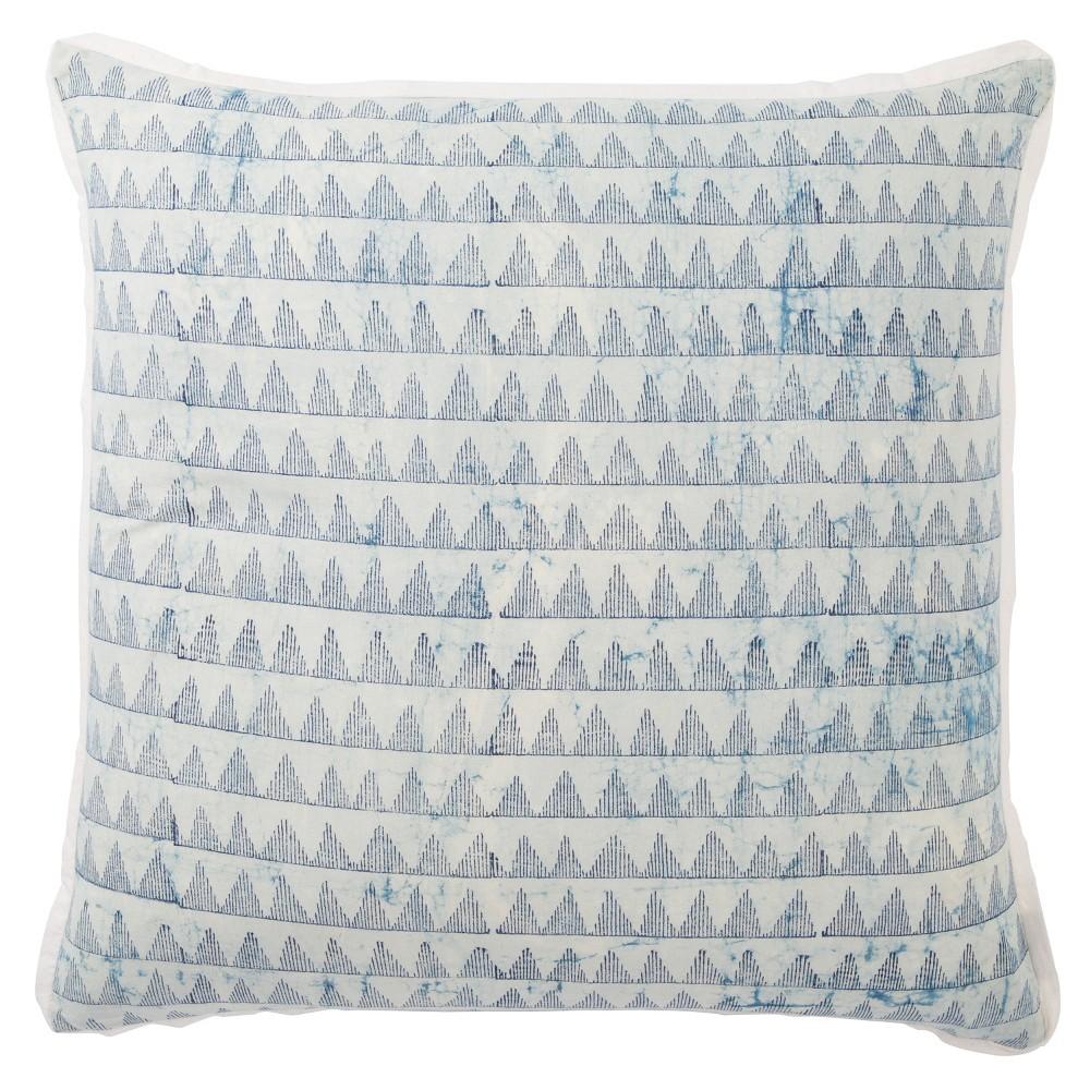 Yonah Handmade Geometric Oversize Square Throw Pillow Blue - Jaipur Living