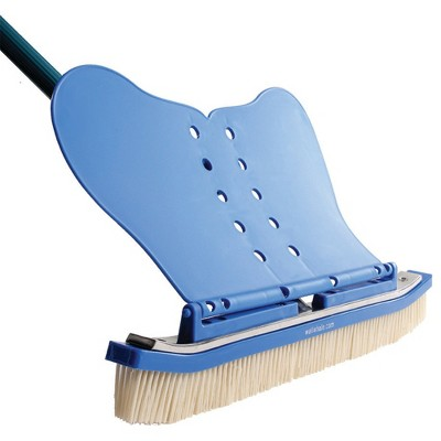 Wall Whale Classic 18 Inch Swimming Pool Wall Cleaning Brush w/ Nylon Bristles
