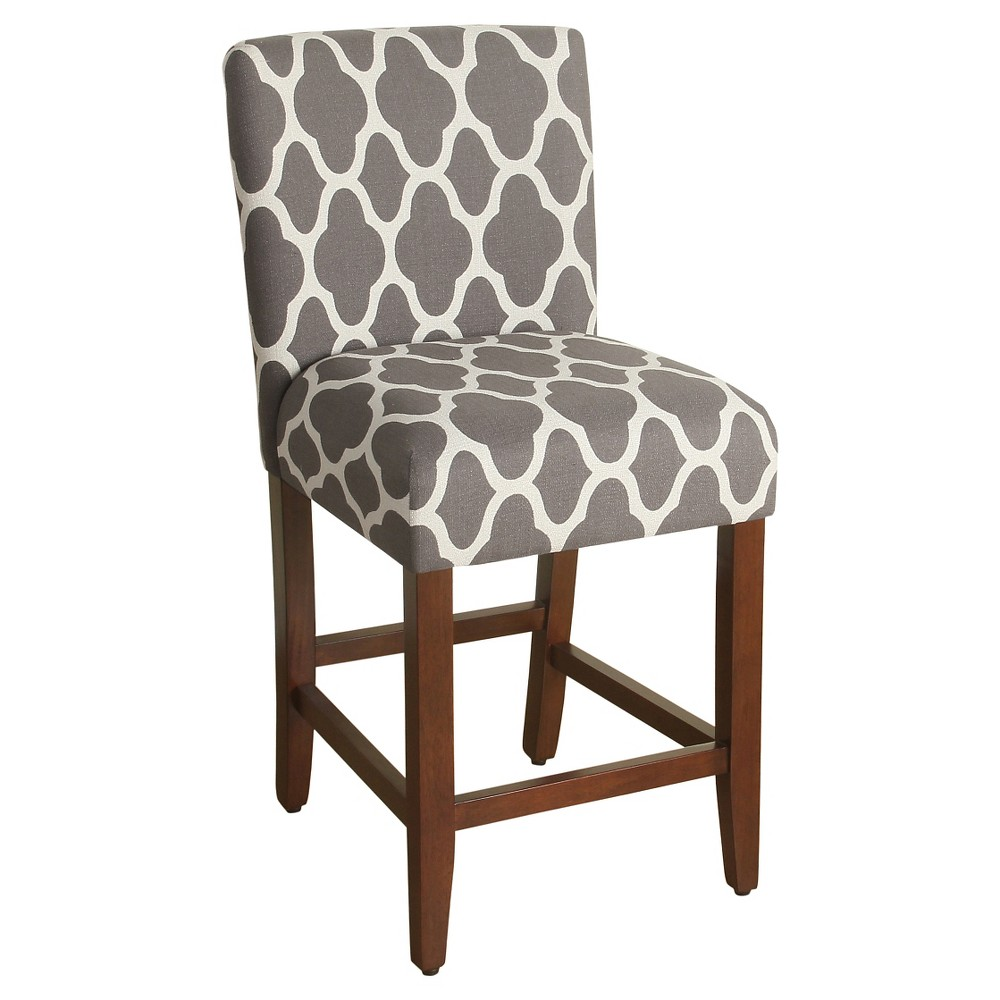 "Image of ""24"""" Geo Counter stool - Gray - HomePop"""