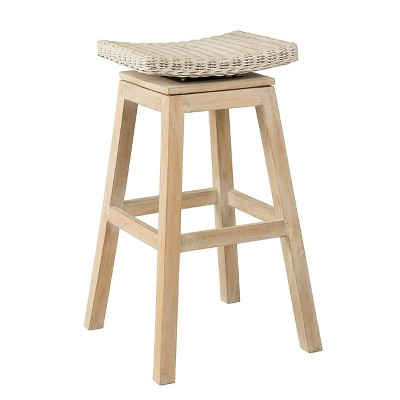 """30"""" Canton Rattan Barstool Off White - East At Main"""