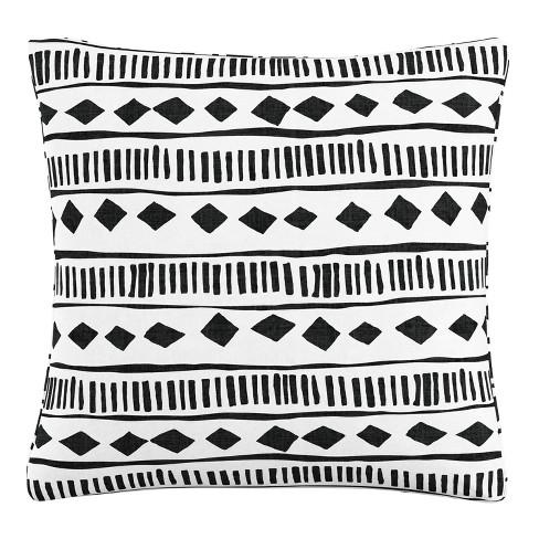 Throw Pillow Skyline Furniture White Black - image 1 of 3