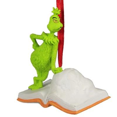 "Holiday Ornament 3.5"" Grinch Open Book Ornament Dr. Seuss  -  Tree Ornaments"
