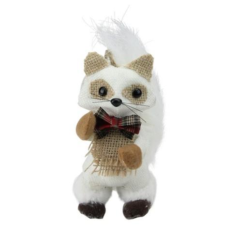 "Melrose 7"" Mini Standing Winter Fox Christmas Ornament - White/Beige - image 1 of 2"