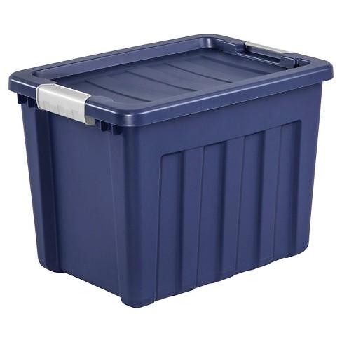 Sterilite 18gal Ultra Tote Blue - image 1 of 4