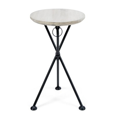Naveed Wood Side Table Light Gray - Christopher Knight Home