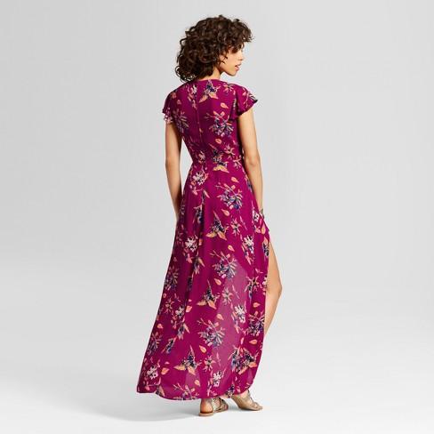 e1440d0ef154 Women s Walkthrough Maxi Dress - Xhilaration™ (Juniors ) Berry XXL   Target