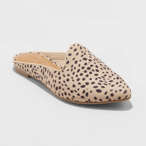 Women's Faux Leather Printed Mules - Universal Thread™ - image 1 of 3