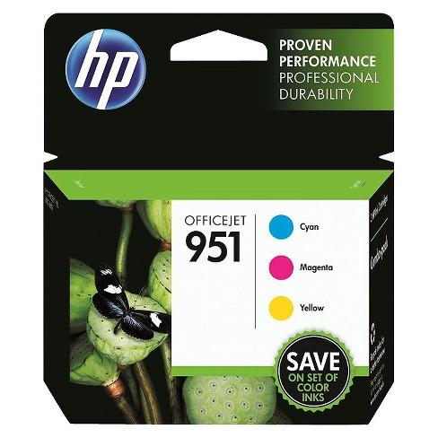 HP 951 Officejet C/M/Y 3pk Ink Cartridge - Cyan, Magenta, Yellow CN056AN#140 - image 1 of 1