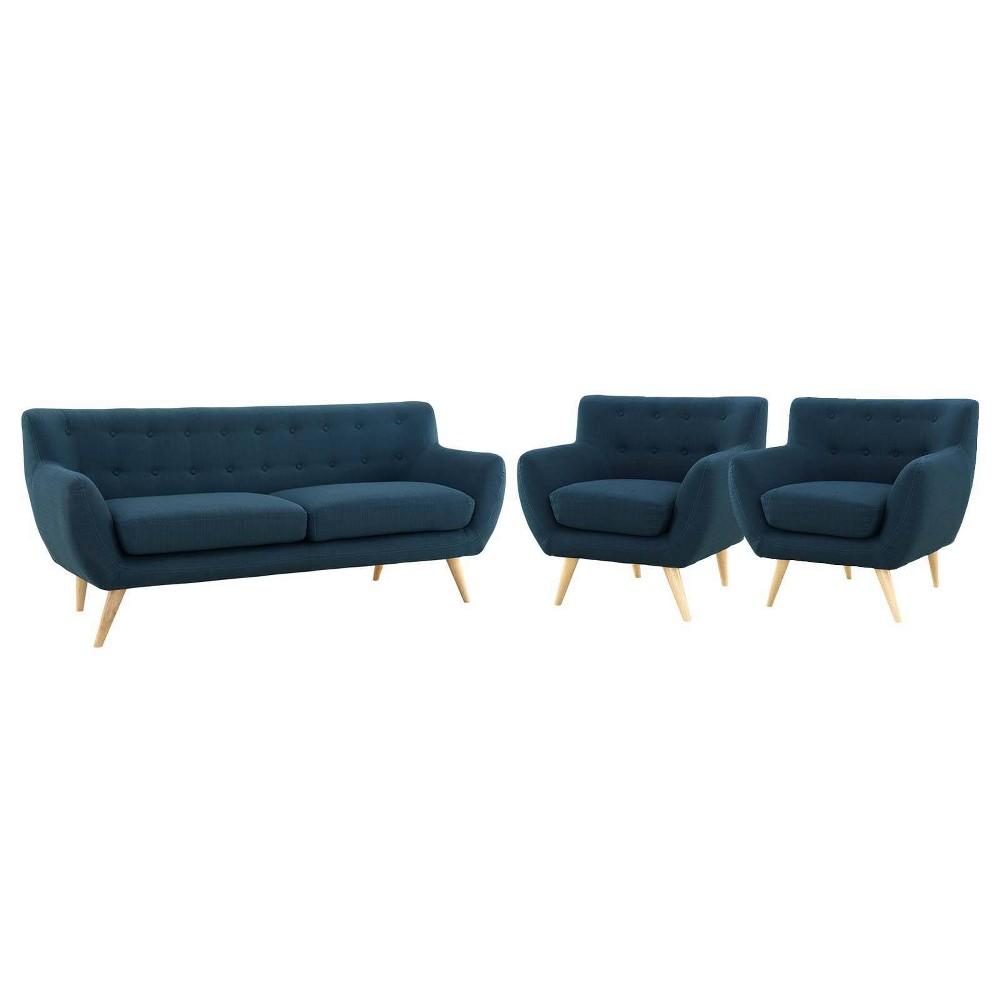 3pc Remark Living Room Set Azure Modway
