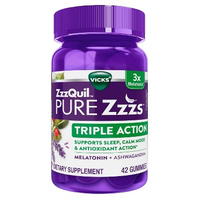 ZzzQuil PURE Zzzs Triple Action Gummy Melatonin Sleep-Aid