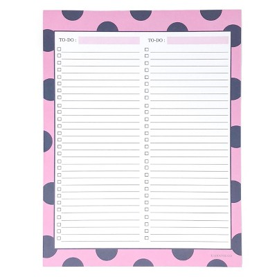Double To Do List Notepad 8.5 x11  Pink- Kahootie Co