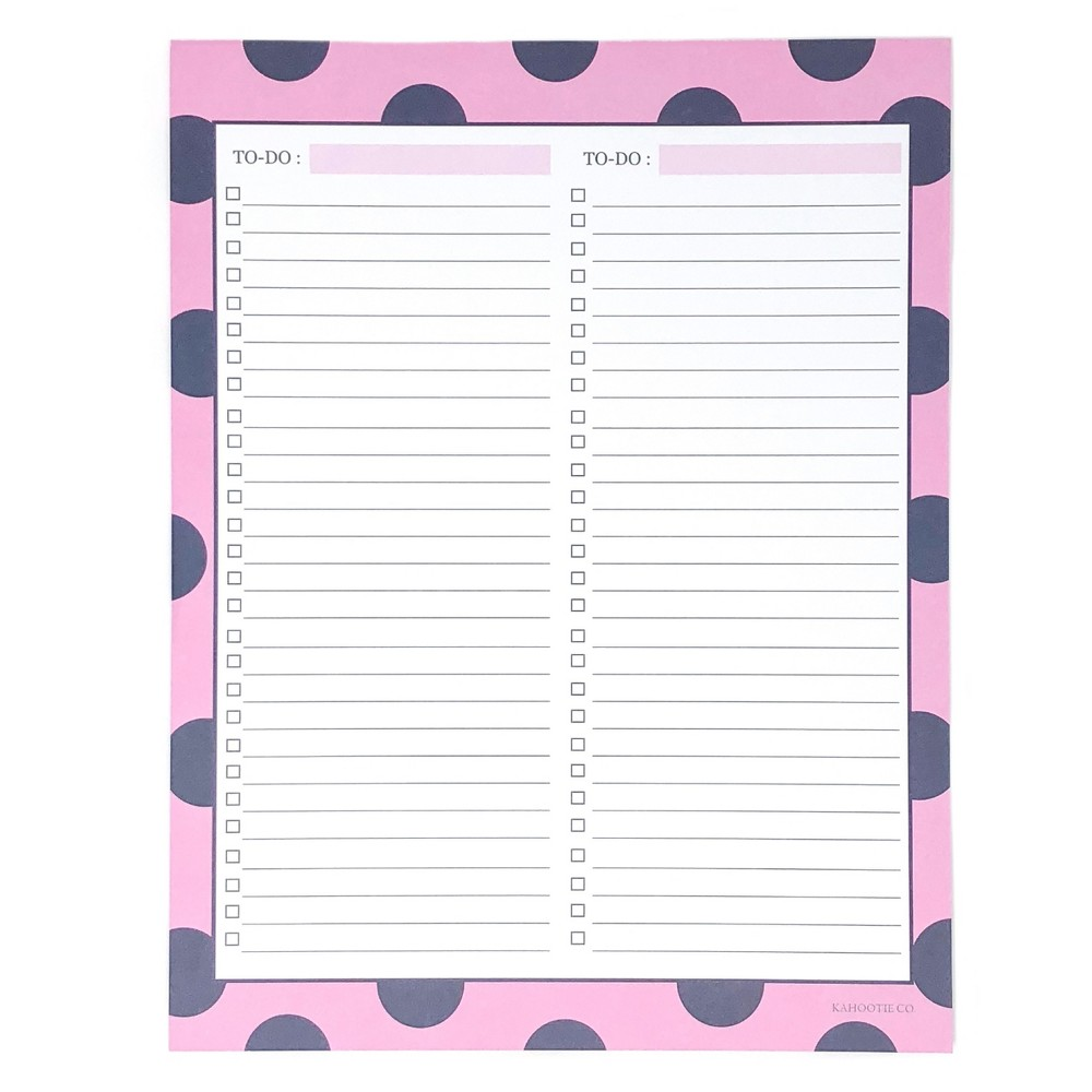 "Image of ""Double To Do List Notepad 8.5""""x11"""" Pink- Kahootie Co, Pink Blue"""