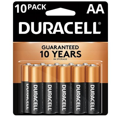 Duracell Coppertop AA Batteries - 10 Pack Alkaline Battery