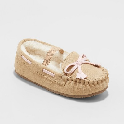 6330ac29e45e Toddler Girls  Celina Moccasin Slipper – Cat   Jack™ Tan M(7 8 ...