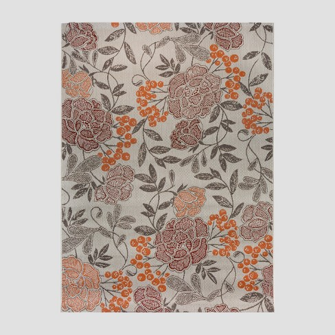 Vintage Floral Outdoor Rug - Threshold™ - image 1 of 5