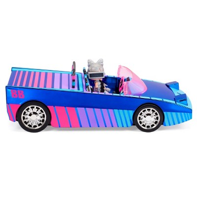 L.O.L. Surprise! Dance Machine Car with Exclusive Doll, Surprise Pool, Dance Floor and Magic Blacklight