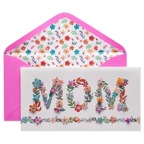 Papyrus Flower Mom Lettering Mother's Day Greeting Card - image 1 of 4