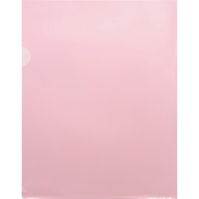 """Business Source File Holders Poly Transparent 11""""x8-1/2"""" 50/BX Red 00607BX"""