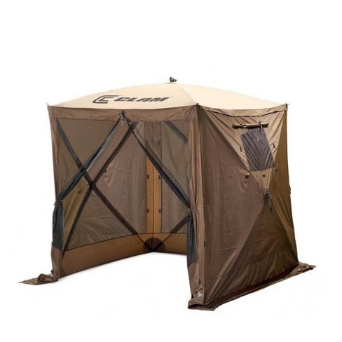 Clam Quick Set Traveler Portable Camping Outdoor Gazebo Canopy + 3 Wind Panels - image 1 of 4