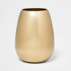 "6.1"" x 4.1"" Brass Hurricane Vase Gold - Threshold™"