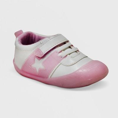 Ro+Me by Robeez Baby Girls' Alyssa Athletic Sneakers - Pink 0-6M