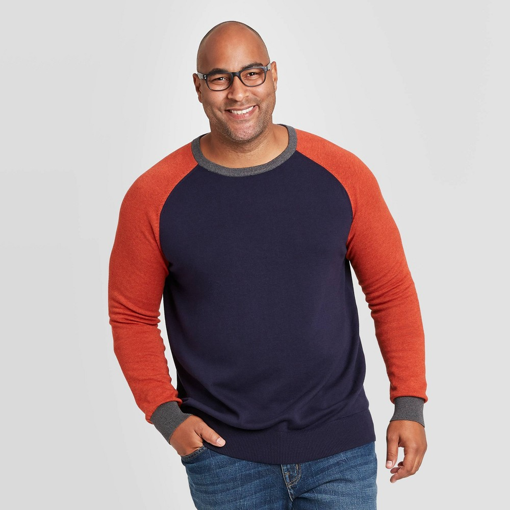 Compare Men's Colorblock Big & Tall Regular Fit Crewneck Sweater - Goodfellow & Co™ Xavier