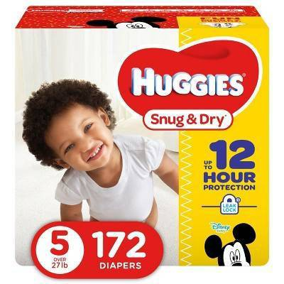 Huggies Snug & Dry Diapers - Size 5 (172ct)