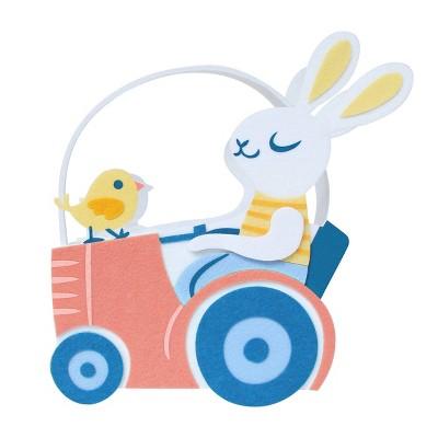 Felt Easter Basket Tractor & Bunny - Spritz™