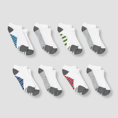Hanes Premium Boys' 8pk No Show Athletic Socks