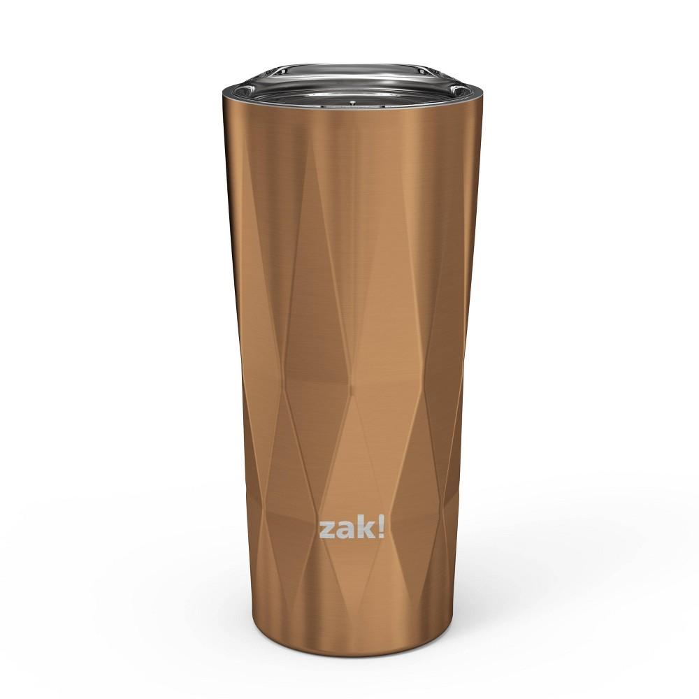 Zak Designs 16oz Fractal Double Wall Stainless Steel Pint Tumbler Copper