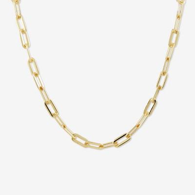 Sanctuary Project Flat Chain Link Necklace Gold