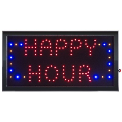 """19""""X10"""" Neon LED Sign with Animation HAPPY HOUR - Trademark Global"""