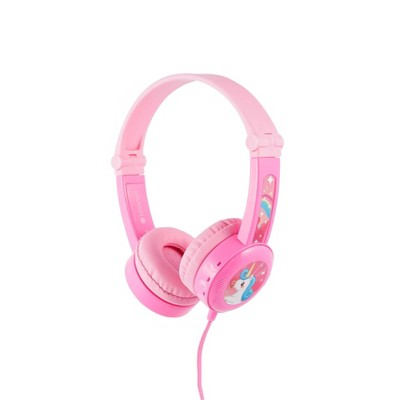 BuddyPhones Travel Wired Headset - Pink