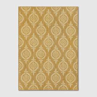 5'X7' Paisley Tufted Area Rug Gold - Threshold™