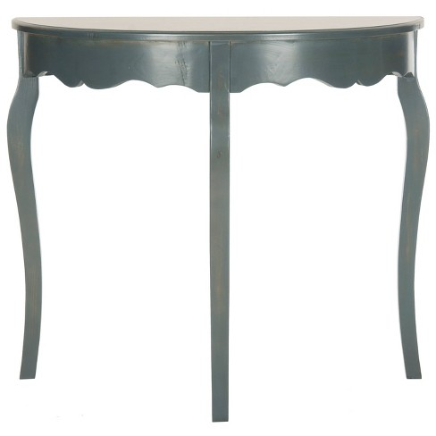 Aggie Console Table - Teal - Safavieh - image 1 of 4