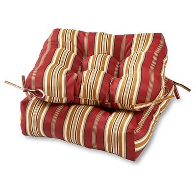 Set of 2 Outdoor Seat Cushions Roma Stripe - Kensington Garden