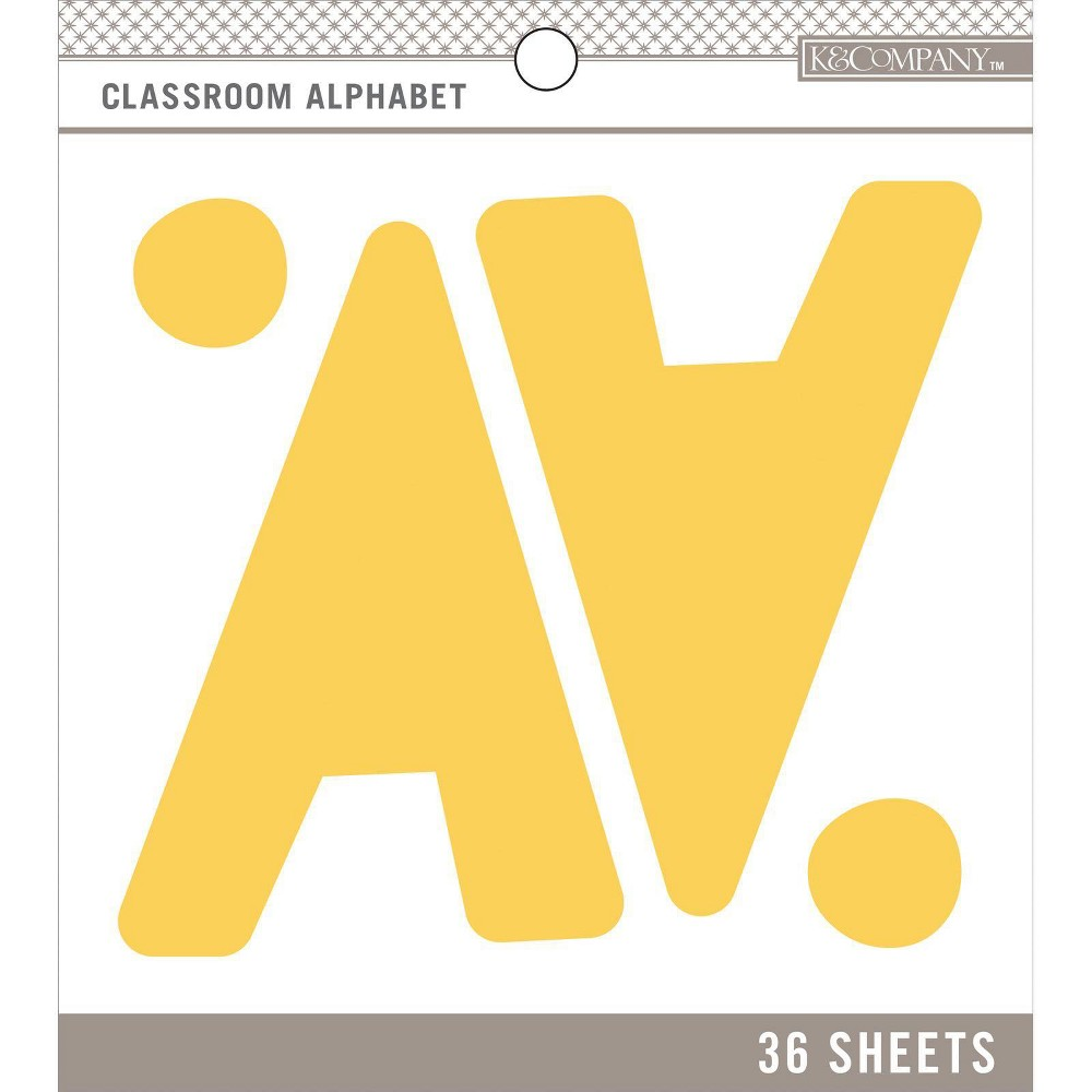 Image of K&Company 36 Sheets Classroom Alphabet - Yellow