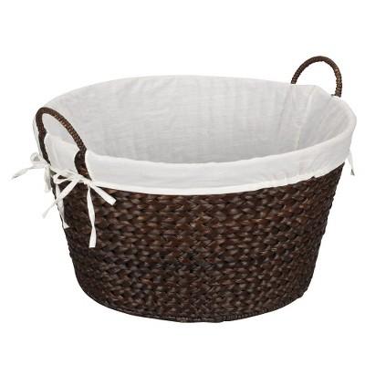 Banana Leaf Laundry Basket - Dark Brown