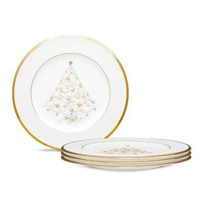 Noritake Palace Christmas Set of 4 Holiday Accent Plates