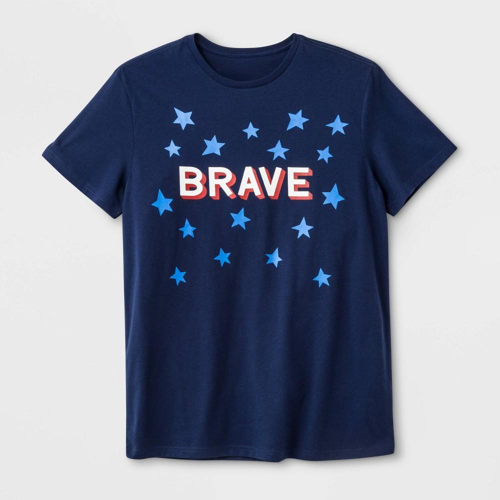 "Image of ""Men's """"Brave"""" Americana T-Shirt - Navy M, Size: Medium, Blue"""