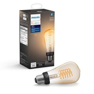 Philips Hue Filament ST19 Smart Vintage LED Light Bulb with Bluetooth